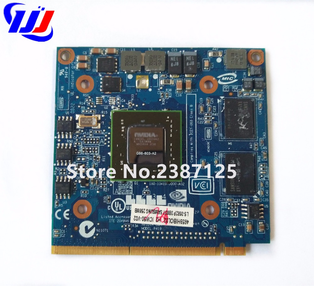 8400M GS 256MB DDR2 LS-3582P VGA Video Card For TravelMate 4730G 5520G 5530G 5710G 5720G 5730G 6593G 7520G 7530G 7720G 7730G