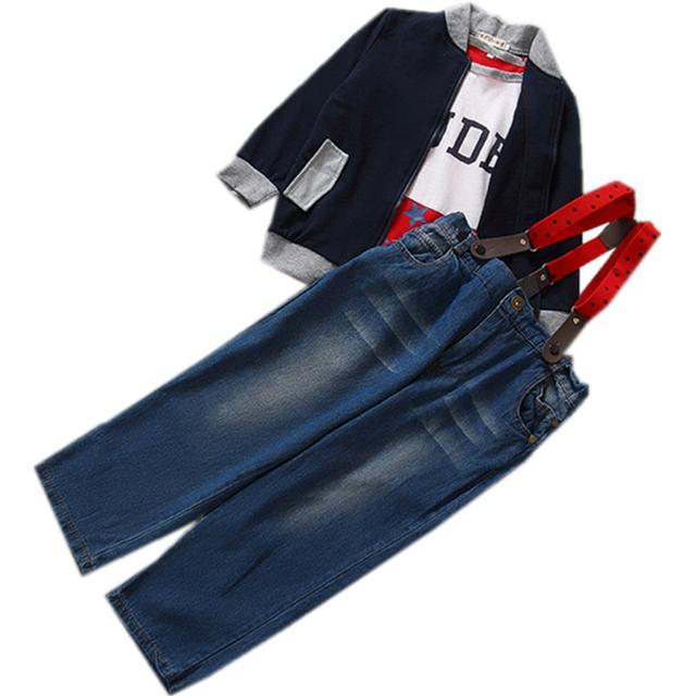 Otoño ropa de los cabritos sets boy 3 unids ropa suit set recién nacido Ropa casual trajes de bebé niños de la ropa ropa de los muchachos