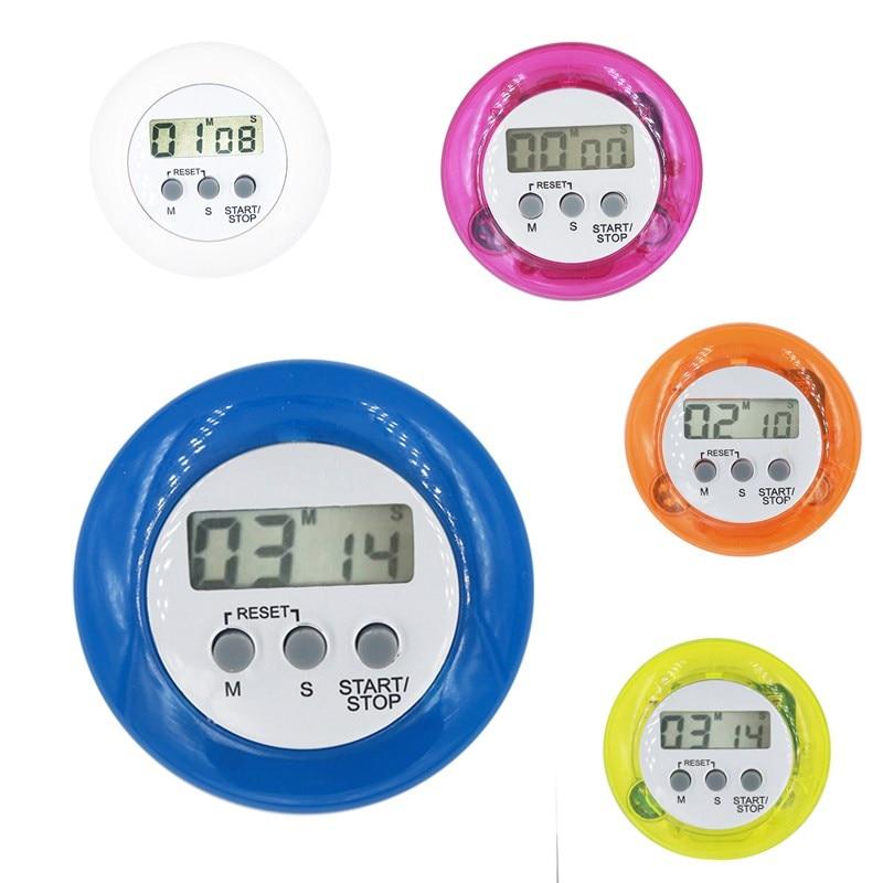 ⑤100pcs/lot Multi Plastic LCD Display Digital Round Electronic Mini ...