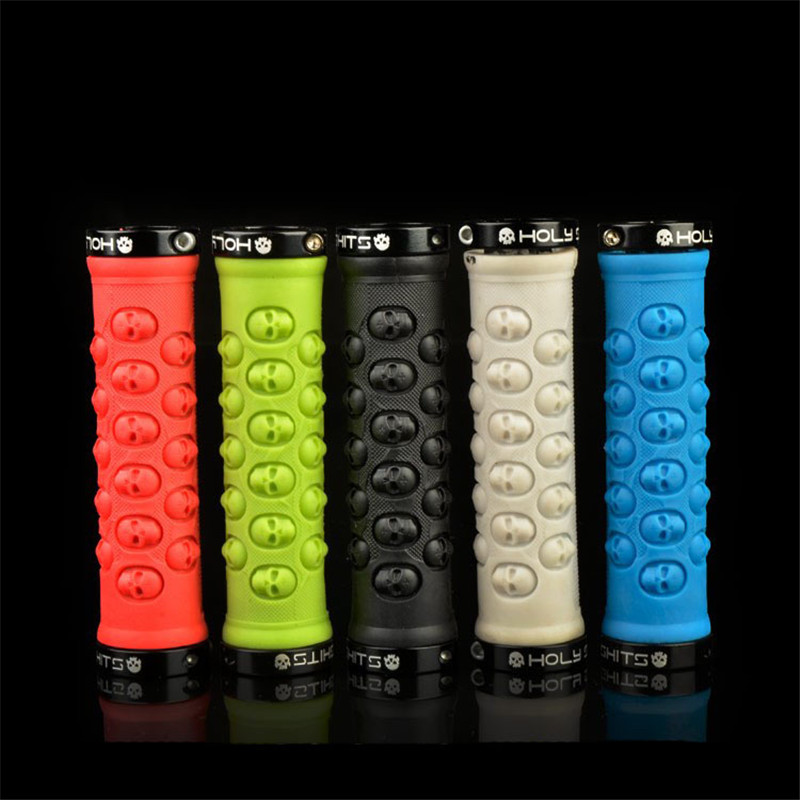 2018 Skull Style Bikes Grip MTB Mountain Road Bicycle Lockable Handlegrip Handlebar Grips Parts 7 Colors Hot Sale