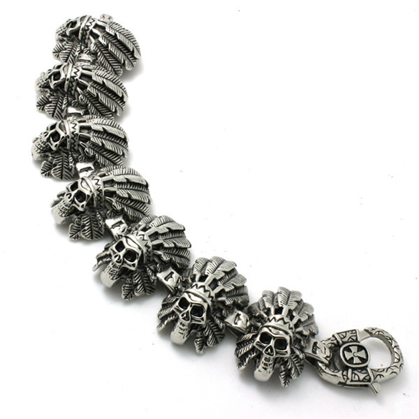все цены на BC0133 Fashion 139g Heavy Indain Cool Bracelet 316 Stainless Steel Hot Sale Wholesale Cool Punk Style Bracelet