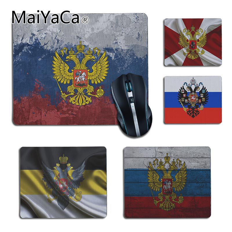 MaiYaCa Russia Flag Coat Of Arms Game Laptop Gaming Mice Mousepad DIY Design Gaming Mouse Pad Rug For PC Laptop Notebook Gamer