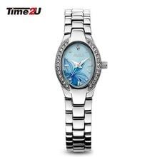 Time2U Леди Моды Перламутровый Циферблат Бизнес Малый Циферблат Женщины Кварцевые Часы Наручные Часы