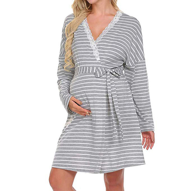 3a4f5a391f Women s Maternity Dress Nursing Nightdress For Breastfeeding Nightgown  Sleepwear Nursing Dress Pregnant Women s dress Clothing