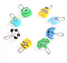 High quality Kawaii Cartoon Animal Silicone Key Caps Covers Keys Keychain Case Shell Novelty Item KCS