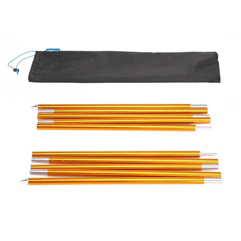Poteaux de bâche en aluminium MIER poteaux légers réglables pour Camping, sac à dos, auvents, abris (lot de 2) PE601