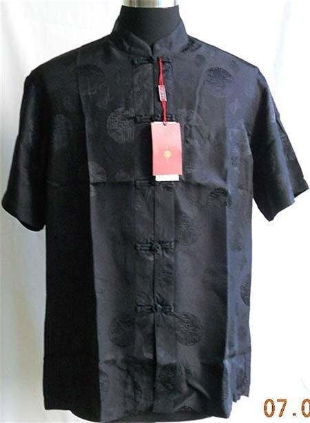 Soie 100 Top Hommes S Chinois Yf1161 Tradition white À Shirt Beige black Xxxl Chemise Kungfu De red wrxCfqprnE