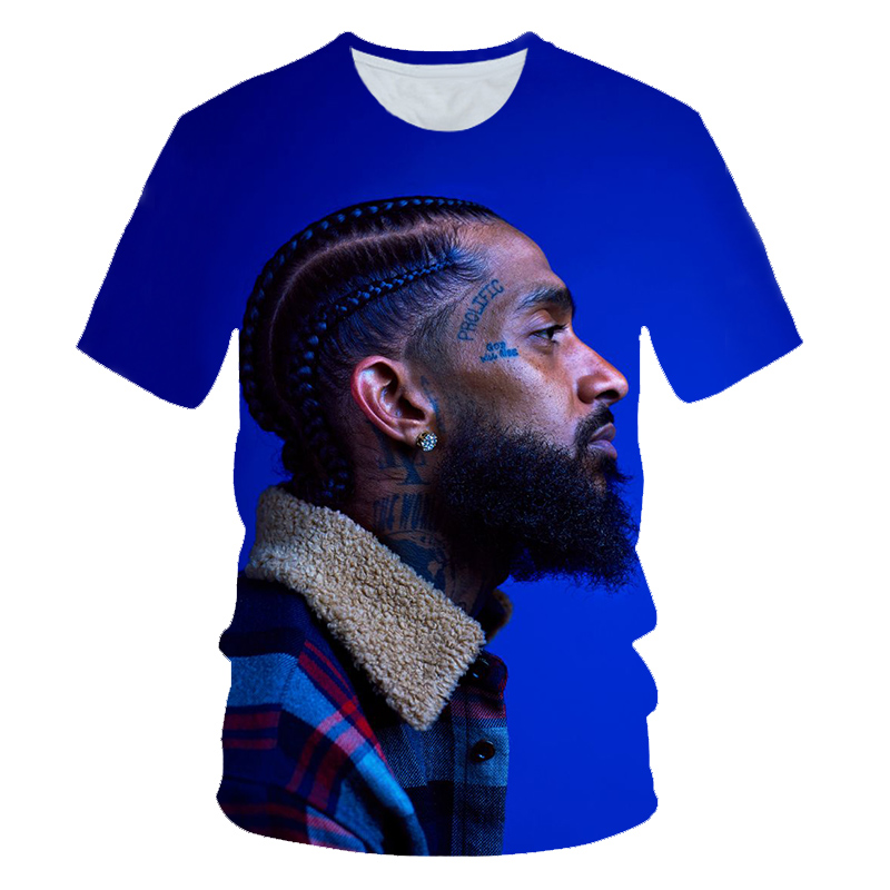 3D Hip Hop Nipsey Hussle T Shirt Rapper Men/women Classic T Shirt Summer Soft Short Sleeve Harajuku Nipsey Hussle Tshirts