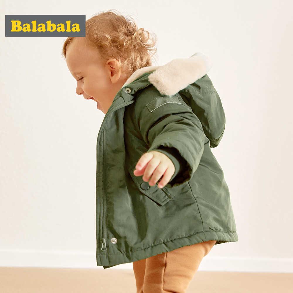 Balabala Girls Coat Jackets 3-24 M Long Sleeve Girls cotton Clothes Kids Winter Warm pink Coats For Girls Outerwer Children