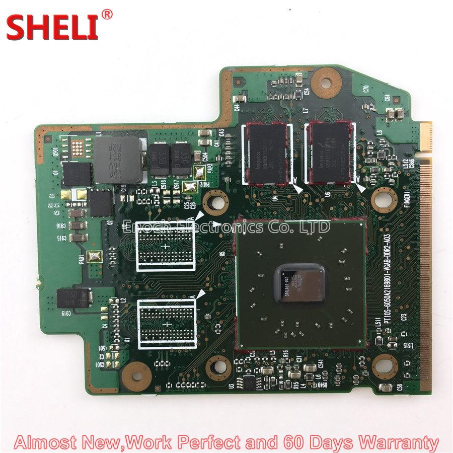 SHELI Video Card V000121540 For Toshiba Satellite A300 A305 A305D Series Laptop Motherboard VGA Board 6050A2169801 256MB v000125830 motherboard for toshiba satellite a300 a305 6050a2169901