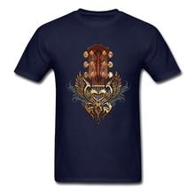Guitar Head stock twin eagle Shirt Men Geek Custom Short Sleeve XXXL Party Tshirt