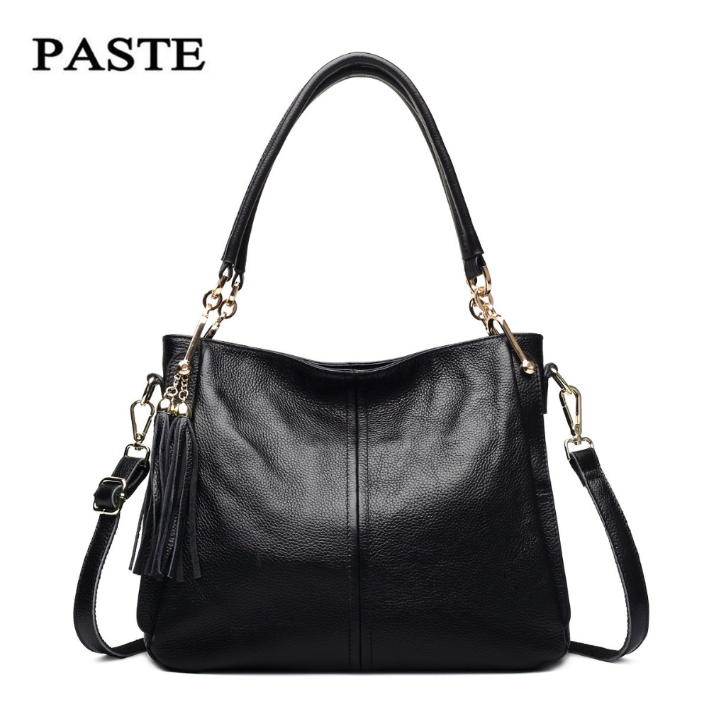 2018 Soft Leather Women Handbags Autumn&Winter Fashion Genuine Leather Tassels Women bag Handbags Cowhide Shoulder bags for Lady zooler lady handbag women cowhide leather handbags europe and america style genuine leather bags fashion menssenger shoulder bag