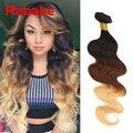 Ombre Hair Extensions 3 Tone Ombre Brazilian Virgin Hair T1B/33/27 Ombre Brazilian Body Wave Ombre Brazilian Human Hair Bundles
