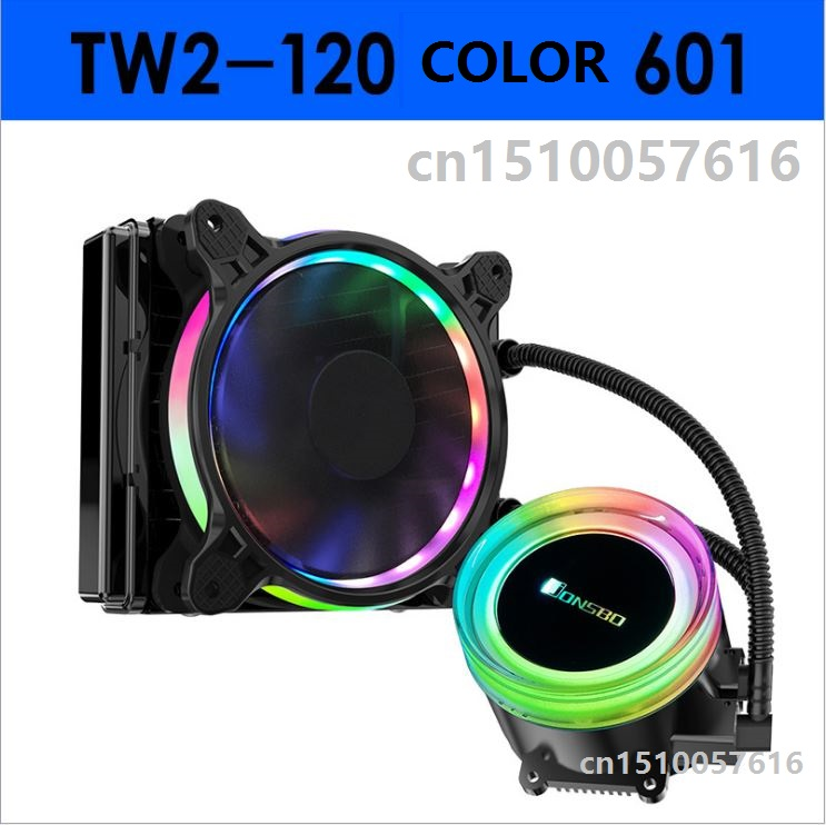 Jonsbo TW2-120 water-cooled integrated CPU cooler cold head automatic color change light fan Symphony Aura Eclipse fan
