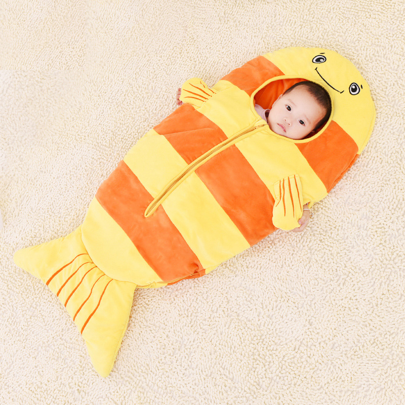 0 3 Year 85 105cm Baby Sleep Sack Newborns Envelope Frog Cat Dog Fish Winter Summer Baby Sleeping Bag Shark Kid For Child in Sleepsacks from Mother Kids