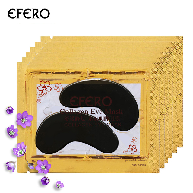 1 Pairs 24K Gold Crystal Collagen Eye Mask Eye Patches For Eye Care Dark Circles Remove Anti-Aging Wrinkle Skin Care TSLM1