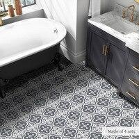 Водостойкая Черно-Белая настенная плитка наклейка s линия талии кухня Настенная Наклейка ПВХ клейкая ванная комната пол обои