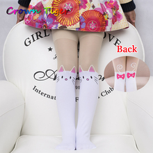 cartoon Design Girls Tights Lovely Hello Kitty Bunny Velvet Stockings for Girls pantyhose Patchwork Kids girls leotard Hot Sale