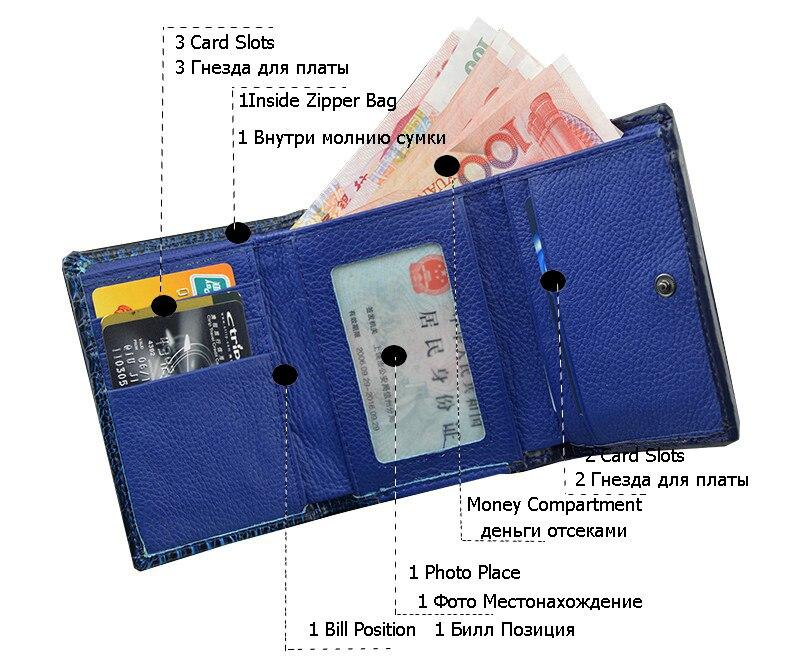 mini carteira de couro de Main Material : Leather