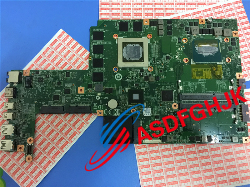 Original stock for MSI gs70 Laptop Motherboard MS-17721 ms-1772 Model Mainboard with I7 CPU AND GTX880M  Work perfectly for msi ms 10371 intel laptop motherboard mainboard fully tested works well