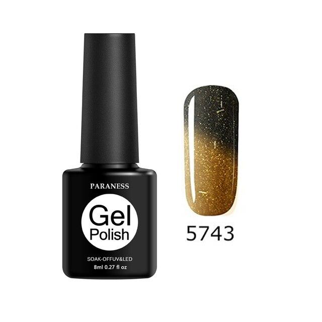 Paraness Temperature Change Color Nail Gel Polish UV Led Lamp Nail Polish Soak Off 29 Color Lucky UV Gel Varnish Art