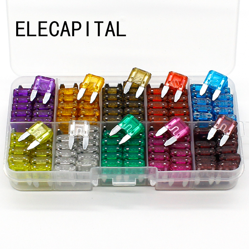 New mini 240pcs Auto Automotive Car Boat Truck Blade Fuse Box Assortment 3A 5A 7.5A 10A 15A 20A 25A 30A 35A 40A auto automotive blade fuse holder with a line of high quality waterproof fuse auto automotive car blade fuse free shipping au12