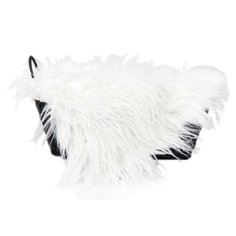 Baby Newborn Faux Fur Photography Photo Props Blanket Basket Stuffer Rug Beanbag Background Backdrop White
