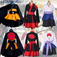 Kunden Naruto Cosplay Kostüm Uzumaki Naruto Lolita Kleidung Anzug Uchiha Sasuke Kimono Kleid Akatsuki Lolita Kleid für Frauen