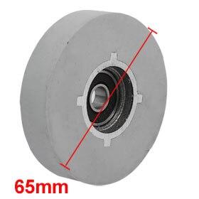 Uxcell Hot Sale 1 Pcs 65 x8 x14mm Bearing Steel Rubber Flat Top Pinch Roller Edgebanding Wheel Gray title=