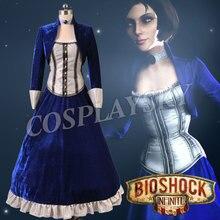 Girls Dress Bioshock Infinite Elizabeth Cosplay Costumes Party Halloween Uniforms for Women Autumn Winter Dresses