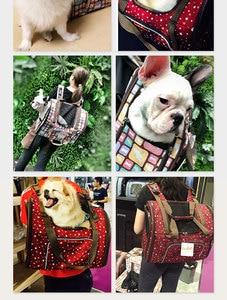 Image 5 - 高級キャンバス犬のキャリアバックパックバッグショルダーバッグペットリトルミディアム動物旅行屋外輸送ポータブルトート猫良い