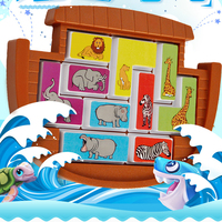 Noah's Ark Puzzles Animals Saving Game Color Shape Puzzles Kids Brain Storming Games Children's Toys Kids Gifts Educational Toys