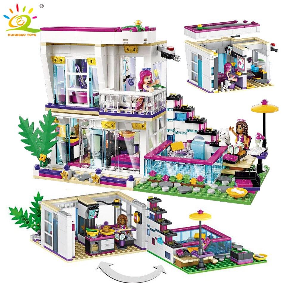 760 piezas estrella Pop Livi es casa edificio bloque Compatible Legoing amigo para las niñas de las cifras de ladrillos juguetes educativos para los niños