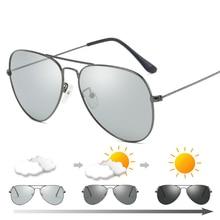 Fashion Men Women Classic Pilot/Aviation Metal Frame Sun Glasses 2019 New Photochromic Polarized Drive Sunglasses with Zip Case