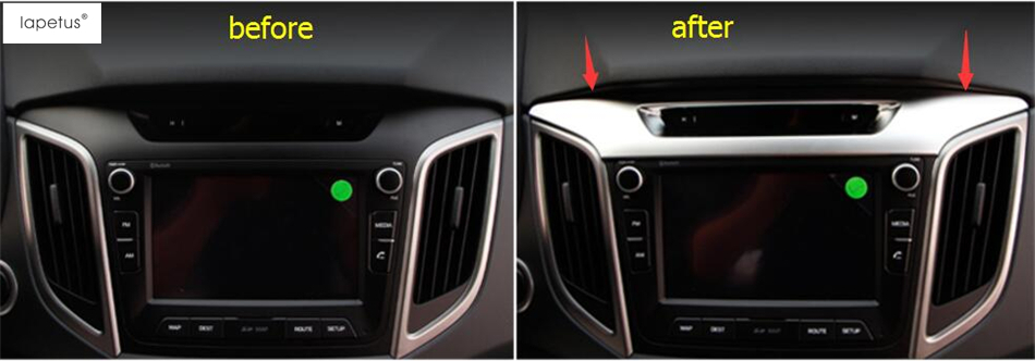 Accessories For Hyundai Creta IX25 2015 2016 2017 Middle Central Instrument / Dashboard Frame Decoration Molding Cover Kit Trim