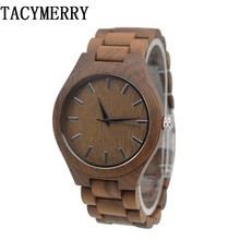 2019 Fashion Business Wooden Watch For Men Full Wooden Wristwatch With Japan MIYOTA 2035 Movement In a Gift цены