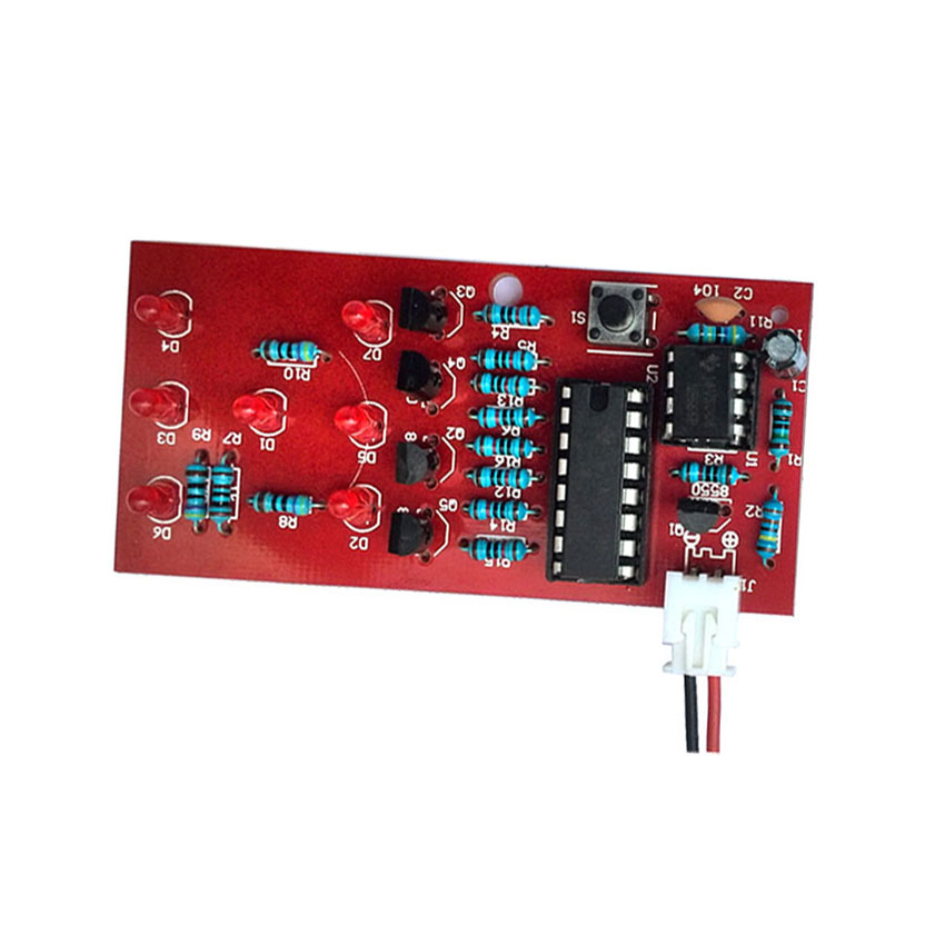 Electronic Dice Kit LED dice fun parts electronic production suite of electronic parts Internship