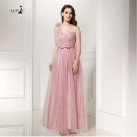 LORIE Peach Dress 2017 Cheap Wholesale Formal Wedding Party Bridemaids Dresses Lace Up A Line Pleats