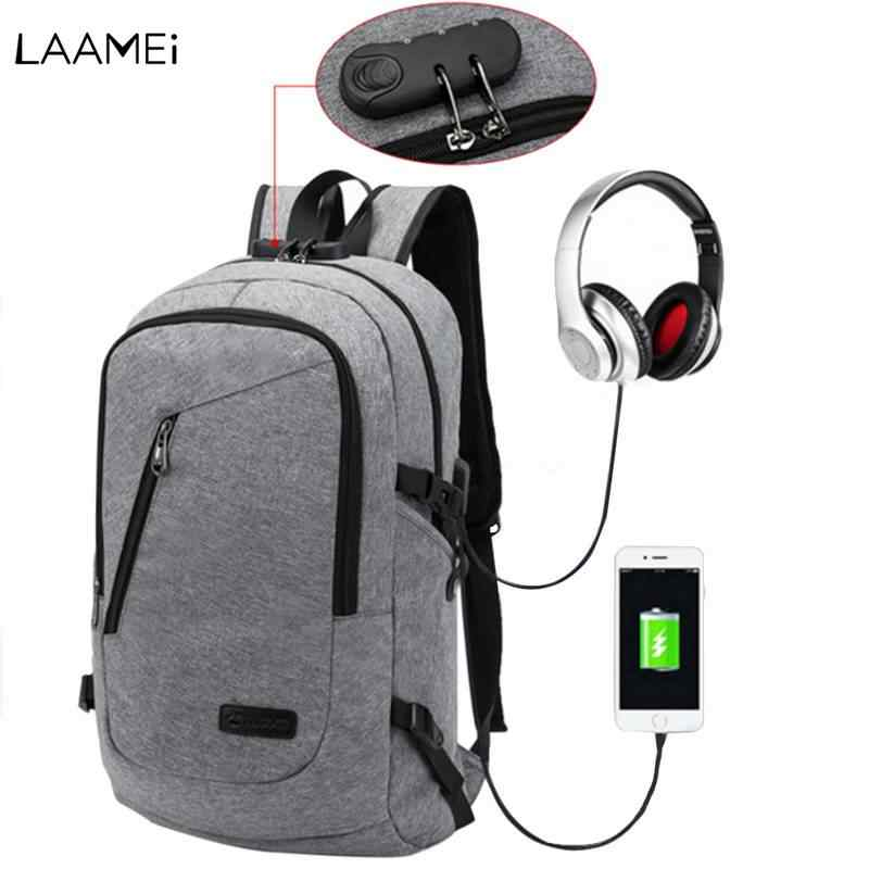 Laamei Backpack Men School Student Loptop Backbags for IPAD Gift USB Backpack Travel Daypacks Mochila Hombre Back Pack For Male