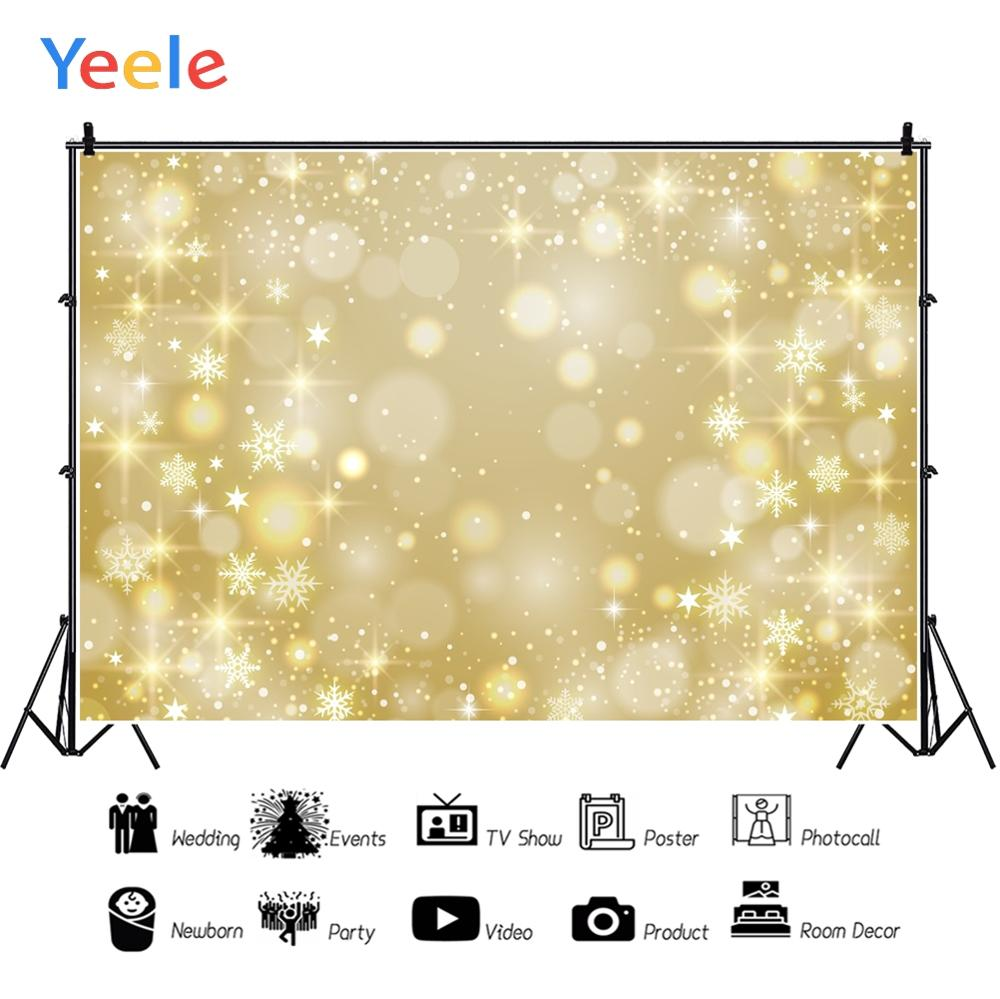 Yeele Yellow Light Bokeh Dreamy Photographic Backgrounds Birthday Party Snowflake Custom Photography Backdrop for Photo Studio in Background from Consumer Electronics