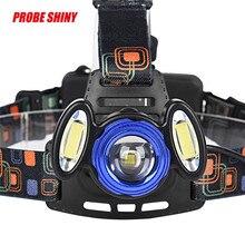 1PC Flashlight Cycling Bike Head Front Light 15000Lm 3x XML LED Headlamp Rechargeable Headlight 18650 Head