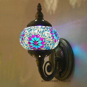 Image 4 - New Mediterranean style Art Deco Turkish Mosaic Wall Lamp Handcrafted mosaic Glass romantic wall light