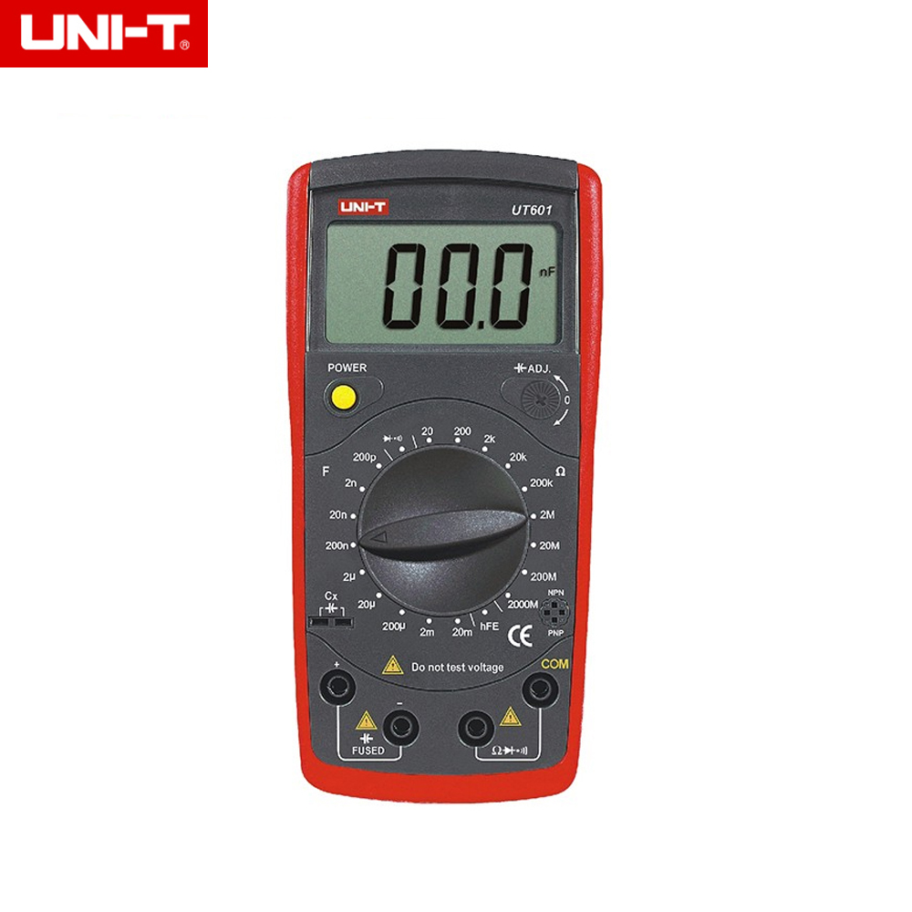 UNI T UT601 Modern Professional Capacitance Meters Ohmmeters Capacitor Resistor w/Diode & hFE Test