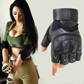 Army Tactical Gloves Military Special Forces Outdoor Half Guantes Gym Combat Slip-resistant Cut Leather Fitness Gloves G204