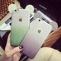 Orelhas de mickey mouse casos de telefone 3d para iphone 6 caso bonito brilho gradiente escudo do telefone silicone macio tpu capa para iphone 6 plus