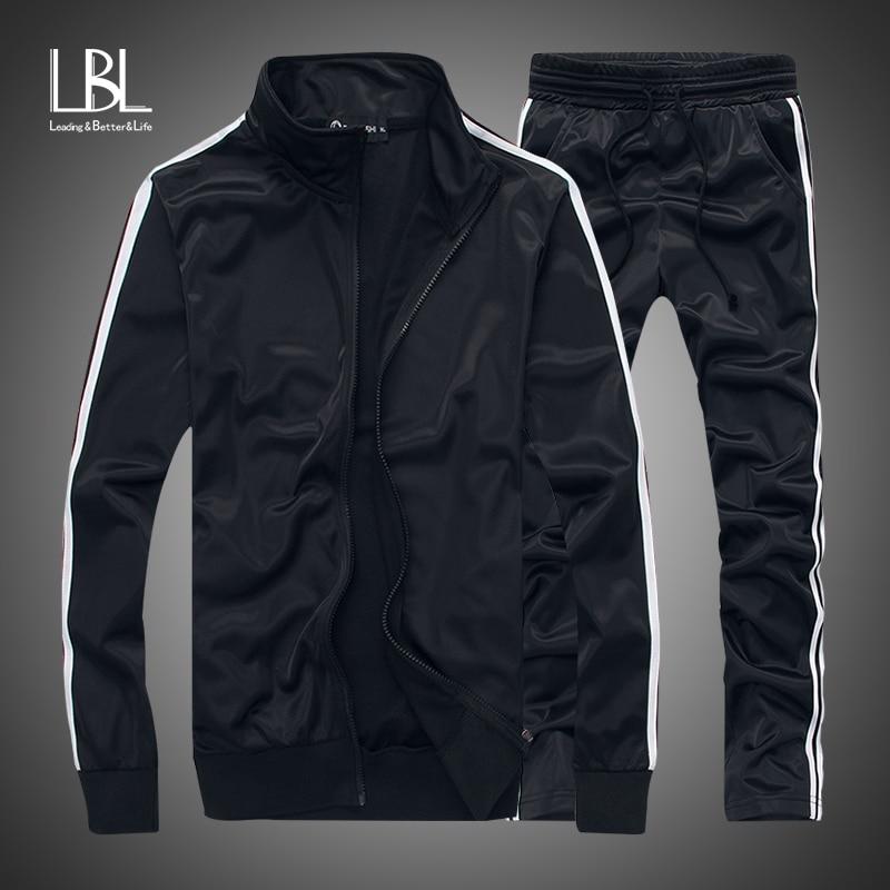 Men's Fashion Tracksuit Casual Sportsuit Men Hoodies/Sweatshirts Sportswear Zipper Coat+Pant Tracksuit Men Set Brand Clothing