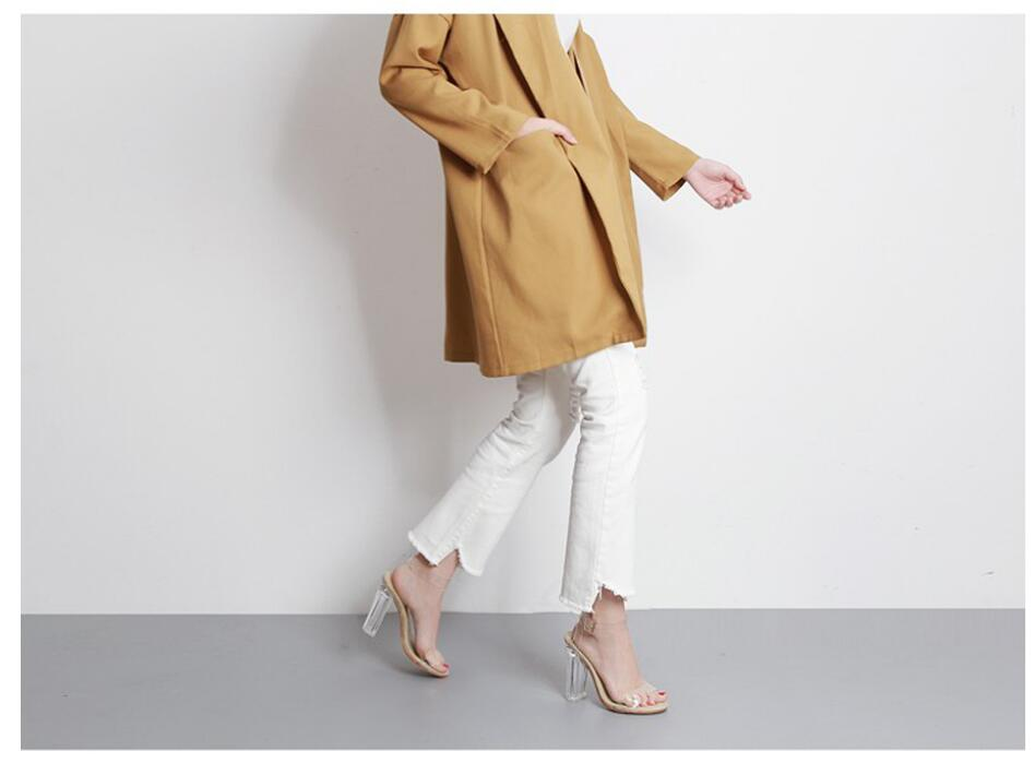 HTB1pwNjfvjM8KJjSZFNq6zQjFXau Aneikeh 2020 PVC Jelly Sandals Crystal Open Toed High Heels Women Transparent Heel Sandals Slippers Pumps 11CM Big Size 41 42