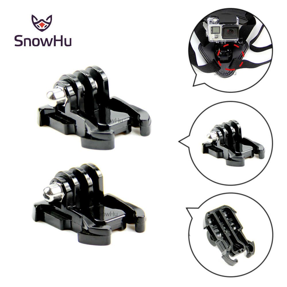 SnowHu للكاميرا اكسسوارات 2X مشبك حزام الأساسية جبل ل Gopro HD بطل 8 7 6 5 4 ل شاومي يي كاميرا فيديو أسود GP06
