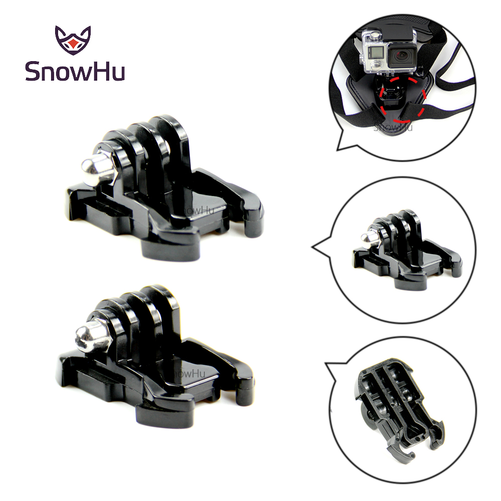 SnowHu For camera accessories 2X Buckle Basic Strap Mount For Gopro HD Hero 7 6 5 4 3 For xiaomi yi Camera Camcorder black GP06 in Sports Camcorder Cases from Consumer Electronics