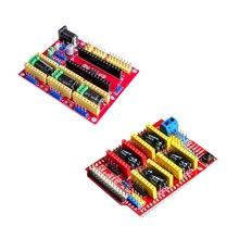 Щит ЧПУ V4 щит v3 гравировальный станок/3D принтер/A4988/DRV8825 Плата расширения драйвера для arduino Diy Kit